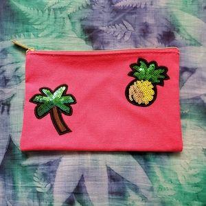 🌴🍍 Pineapple & Palm Tree Cosmetic Bag